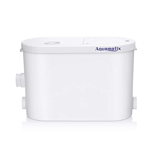 Aquamatix Broyeur Sanitaire pour l'évacuation Des Eaux Usées WC, Douche, Lavabo, Machine A Laver, Lave-Vaisselle (Silencio 2)