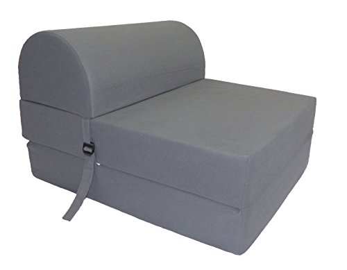 COTTON WOOD Schlafsessel Convertible Stoff 75x 58x 48cm, Stoff, grau, 75 x 58 x 48 cm