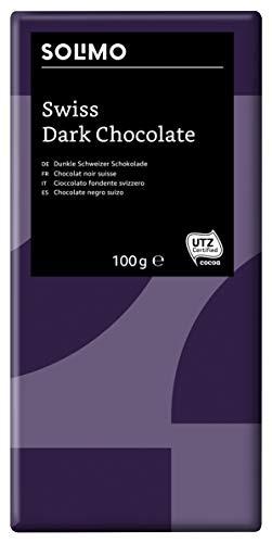 Marque Amazon - Solimo Chocolat noir suisse 45% 1,2 kg  ( 12 tablettes de 100 g)