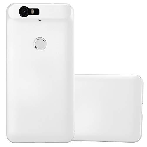Cadorabo Hülle für Huawei Nexus 6P - Hülle in Metall Silber – Hardcase Handyhülle im Matt Metal Design - Schutzhülle Bumper Back Case Cover