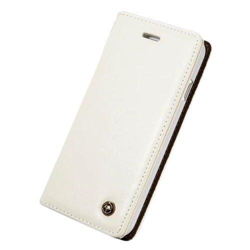 F8Q premium de luxe Portefeuille cartes en cuir Flip Magnetic Case Stand Cover pour iPhone 7 blanc