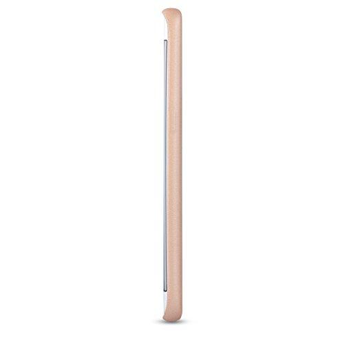 "iPhone 8 Plus Hülle / iPhone 7 Plus Hülle Rose Gold - CASEZA ""Berlin"" Kunstleder Case - Ultra dünnes Leder Backcover für das Original Apple iPhone 8 Plus & 7 Plus - Premium PU Lederhülle Ledertasche Gold Galaxy S7 Edge"