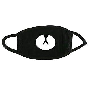 Maske Mund-Lustiger Cartoon-Anti-Staub-Gesicht Mund Masken Cotton Anime Netter Kaomoji Cotton Schwarze Gesichtsmaske Für Frauen Mann