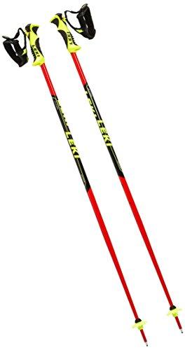LEKI Kinder Worldcup Lite SL Skistöcke, Neon Red/Black White Neon Yellow, 90