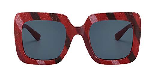 Sommer Gerahmt (Tianba Sonnenbrillen Unisex Vintage Farbiger Kunststoff Brillen Large-Gerahmte Sommer Ideal Radbrille Anti-UV Brille)