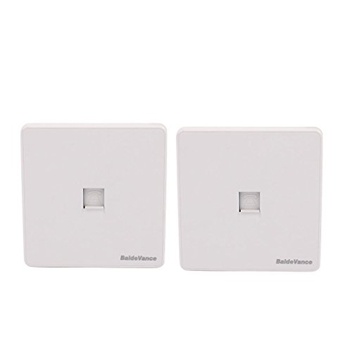 ZCHXD 2pcs 2 Port RJ45 + Telephone Connector Socket Outlet Wall Plate White 86mmx86mm 2-port-wall Plate