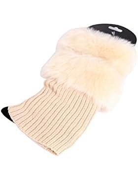 Chaqueta de piel falsa pierna invierno calentador ganchillo YACUN mujer hacer punto calcetines de arranque