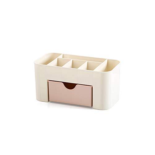Newin Star Maquillage Organisateur superposable cosmétiques Rangement avec tiroirs Coiffeuse Salle de Bains Bureau Organisateur de comptoir pour stylos Affichage de Bijoux (Rose)
