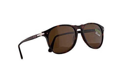 Persol 6649-S Sonnenbrille Havana Mit Polarisierten Braunen Gläsern 55mm 2457 PO 6649S PO6649S PO6649-S