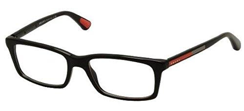 Prada Linea Rossa Für Mann 02c Black Kunststoffgestell Brillen, 55mm