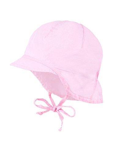 maximo Baby-Mädchen Mütze Schildmütze, Nackenschutz, Bindeband, Rosa (Zartrosa...