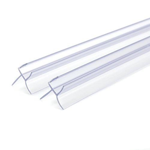 Dichtungsschiene/Gummischiene für Duschen/Badewannen, gebogen, flach, für Glastüren mit 6mm, für Spalten von 16 mm (Für Glastüren Duschen Badewanne)
