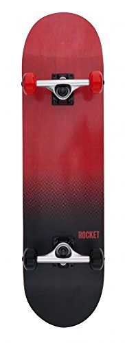 "Rocket Fade Series - Skateboard completo - 20,3 cm (8"") - rosso/bianco"