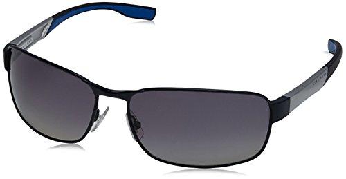 BOSS Hugo Herren 0569/P/S WJ 2HT Sonnenbrille, Blau (Bluette Mtblpld/Grey Sf Pz), 65