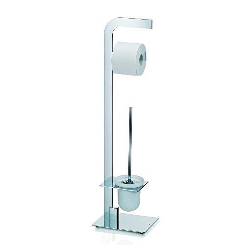 Kela 21991, WC-Bürstentopf und Papierhalterung, Toilettengarnitur, Metall, Canna, 81cm, Verchromt
