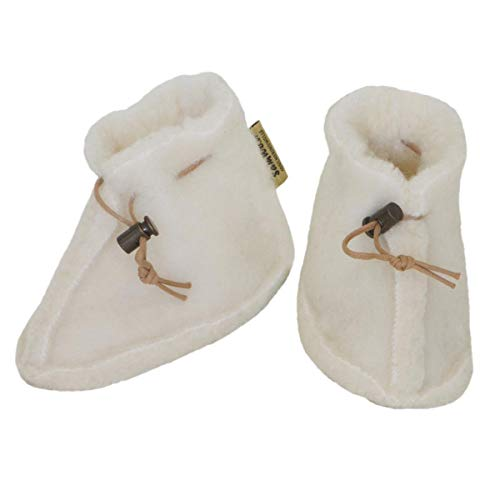 SamWo, Babyschuhe 100% natürliche Schafwolle mit Schnellverschluss BS S nat