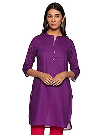 ABOF Women's cotton straight Kurta
