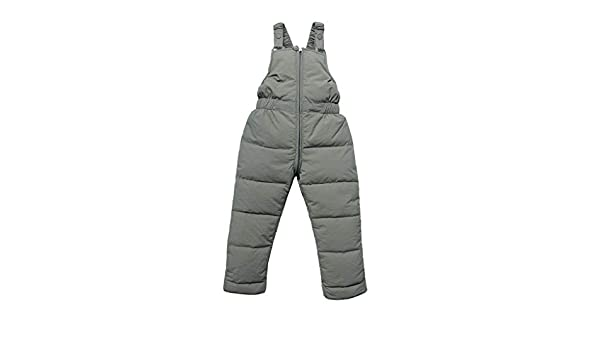 wuayi Kinder Neugeborenes Baby M/ädchen Jungen Einfarbig Verdicken Schneehose Overall Jumpsuit Daunenhose Winter