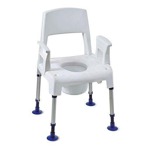 Chaise de toilettes percée modulable Pico Commode Aquatec - INVACARE
