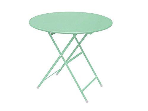 Arc en ciel Emu Table pliante ronde cm. 80 art. 346 Couleur Vert Menthe Code 49