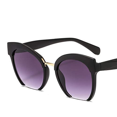 HUOYAN Farbige Half Frame Cat Eye Sonnenbrille Frauen Brillen Street Beat Shopping UV400 (Lenses Color : 6)