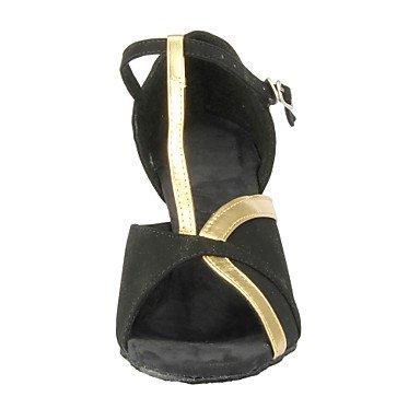 donna in pelle scamosciata con tacco alto sandali da danza latina Salsa Medium