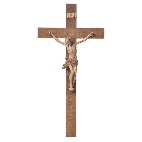Kruzifix aus Gröderntal Holz Mod. Corpus patiniert, 25 cm (9.85 inc.)