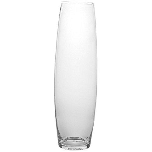 Vase, XXL Deko Blumenvase FAMOUS SAM Ø15cm, H=50cm, hochwertiges Glas, moderner zeitloser Style (GERMAN CRYSTAL powered by CRISTALICA) (Crystal-vase)