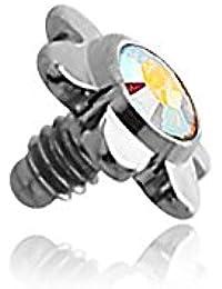 Flor Acero con pedrería para Micro-Dermal 1.6mm–junco eje 1.6mm, elemento 3.5mm