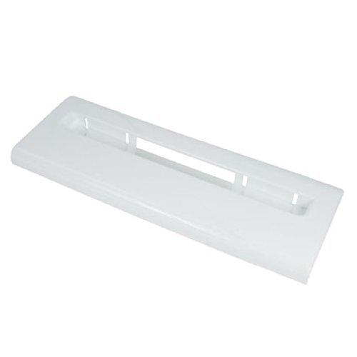 Zanussi Fridge Freezer Drawer Cover / Basket Front Plastic Panel Handle (White)