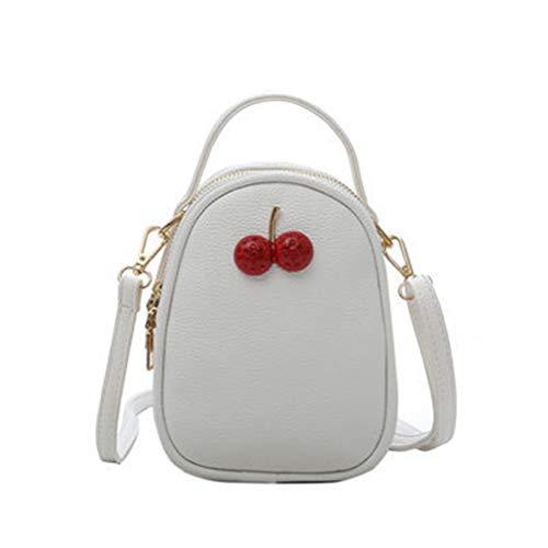 Frauen Handtasche PU Leder Messenger Bags White 14cm8cm19cm