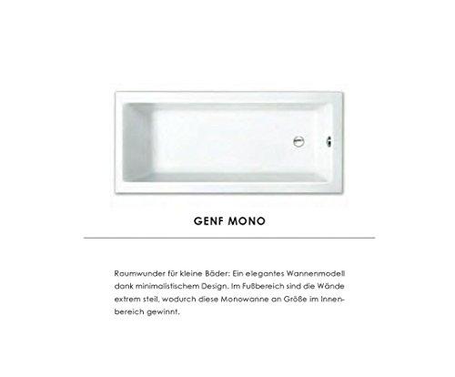 Preisvergleich Produktbild Repabad Genf Mono Badewanne mit Wannenträger 160 x 75 cm Raumwunder