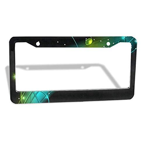 License Plate Frame Musical Shiny Unique Aluminum License Plate Set Metal Tag Holder 12 x 6 Inch 2 Packs