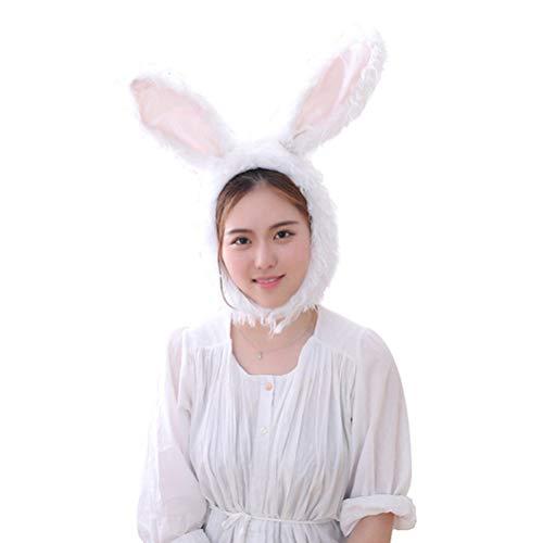 Kaninchen Kostüm Hut - Amosfun Plüsch Ostern Kaninchen Hase Ohren Hut Mütze Ostern Bunny Kostüm Party Foto Stand Requisiten für Frauen und Mädchen