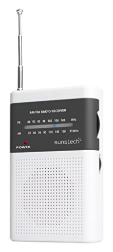 Sunstech RPS42WT - Portable Radio (Am, FM) Color White