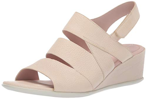 ECCO Shape 35 Wedge Sandal, Scarpe col Tacco Punta Aperta Donna, (Vanilla 1281), 40 EU