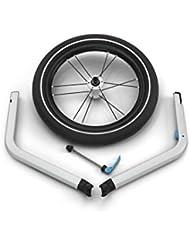Thule 0872299043019 Chariot 2 Jogging Set 2017 Fahrrad Anhänger, silber