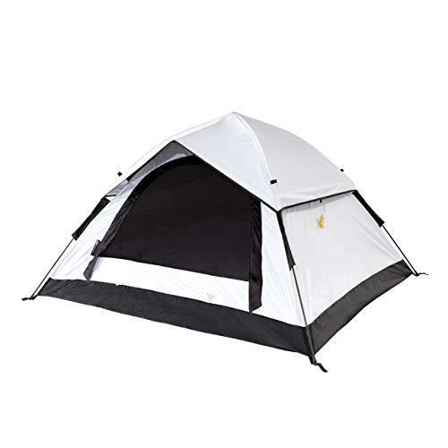 Lumaland Outdoor leichtes Cool Reflective Pop Up Wurfzelt für 3 PersonenZelt Camping Festival Sekundenzelt 210 x 190 x 110 cm mit Tragetasche