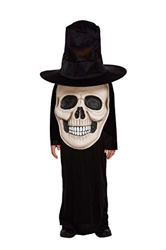 Skull Kid Costume (Children's Halloween Jumbo Skull/ Skelton Face Fancy Dress Costume-4-6)