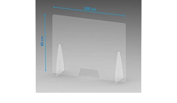 100 x 80 cm Creda Pare-buffle en plexiglas avec ouverture /épaisseur 5 mm