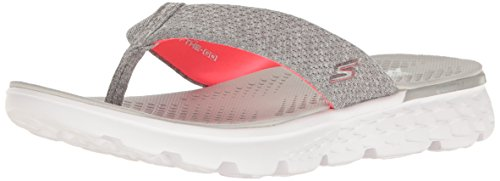 Skechers Vivacity Toile Tongs Gray-Pink