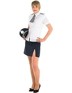 Rubies 889504S - Disfraz de policía para mujer (talla UK 8-10)
