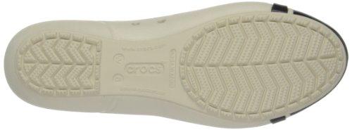 Crocs Cap Toe Flat Damen Ballerinas Beige (Stucco/Black)