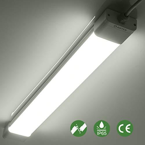 Anten 36W LED Feuchtraumleuchte 120cm für Keller, Garage, Innen- und Außenbeleuchtung, IP65 Wasserfest Kellerleuchte, Feuchtraumlampe in (Kaltweiß 6000K / Neutralweiß 4000K) -