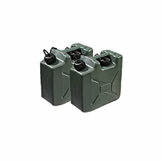 Opticare 2x Green 10L Plastic Jerry Cans with Spouts