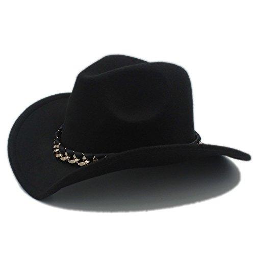 Sunny&Baby Herren Western Cowboy Hut Damen Wolle Cowgirl Sombrero Jazz Kirche Cap für Damen/Herren Mode (Color : 2, Size : 57-58CM)