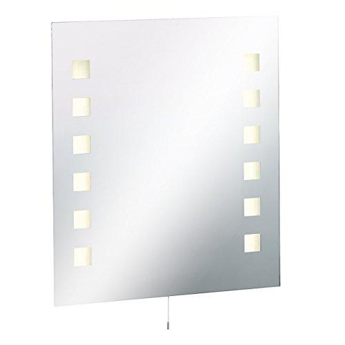 ML19–Badezimmer, rechteckig, Glas Spiegel IP442x 13W T5aus gepresstem Stahl Base mit Licht, Demister und Rasiersteckdose 600W x 700mm x 45D