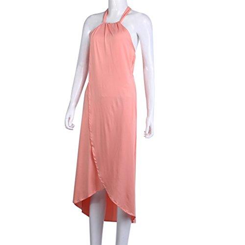 La Cabina Femme Sexy Maxi Robe Longue Bohémienne Sundress pour Plage Soirée Cocktail Orange