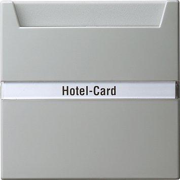 Preisvergleich Produktbild Gira 014042 Hotel-Card-Wechseltast.grau S-Color m.Beschr.Feld u.Demontageschutz
