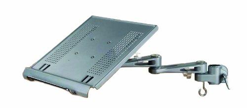 LINDY 40699 - Modularer Notebookhalter - Modulares Halterungssystem für Monitore und Notebook - Höhenverstellbar - Silber -